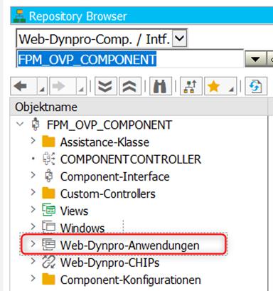 Geöffnete WebDynpro FPM_OVP_COMPONENT in der ABAP Workbench