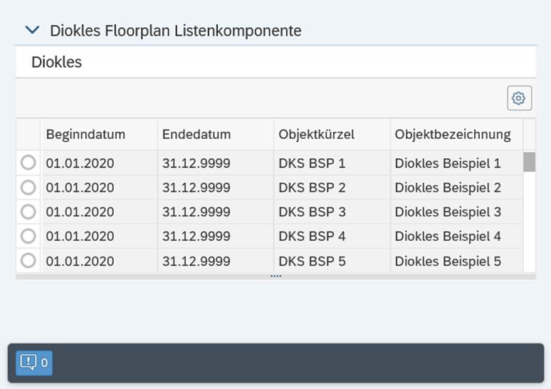 Listenkomponente im Floorplan Manager anlegen und konigurieren