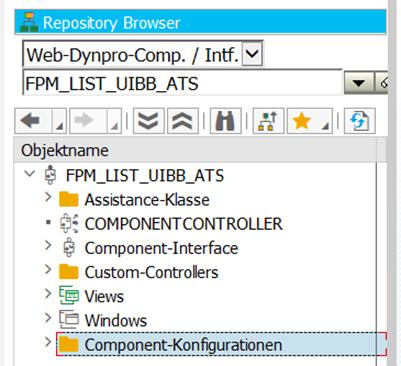 Geöffnete WebDynpro FPM_LIST_UIBB_ATS in der ABAP Workbench