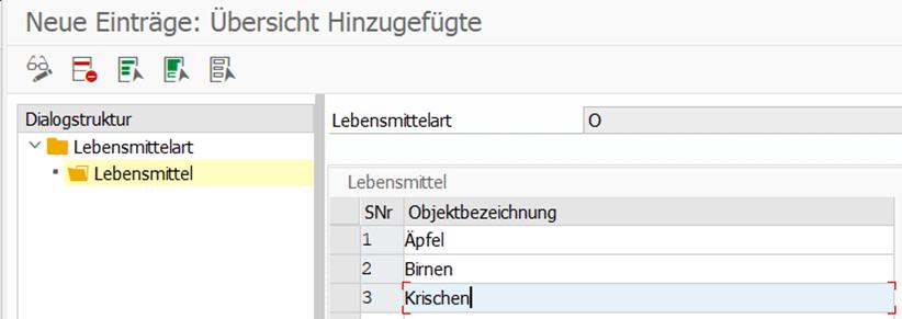 Beispiel : Übersichtliches Customizing durch SAP Viewcluster