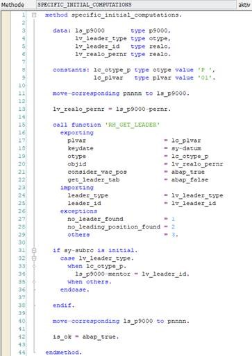 Implementierung von SPECIFIC_INITIAL_COMPUTATIONS